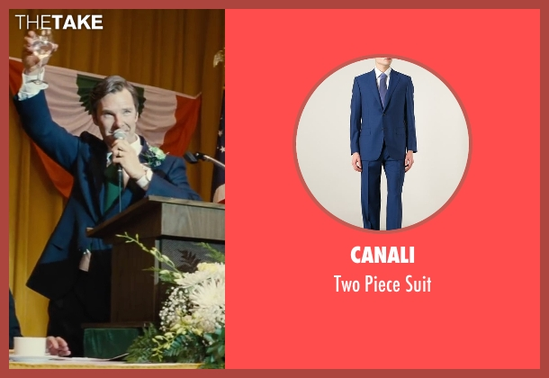Canali blue suit from Black Mass seen with Benedict Cumberbatch (Bill Bulger)