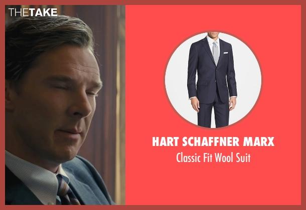 Hart Schaffner Marx blue suit from Black Mass seen with Benedict Cumberbatch (Bill Bulger)