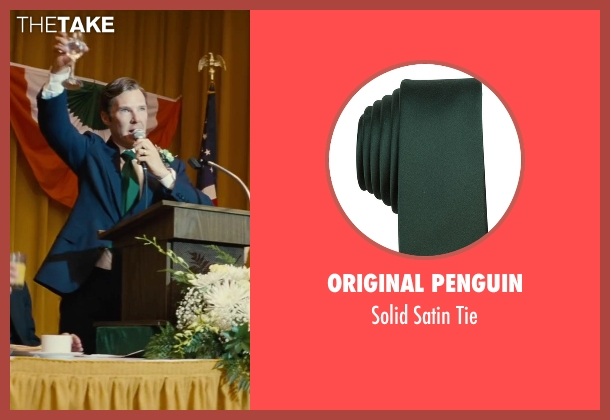 Original Penguin green tie from Black Mass seen with Benedict Cumberbatch (Bill Bulger)