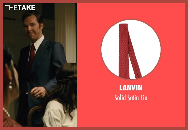 Lanvin red tie from Black Mass seen with Benedict Cumberbatch (Bill Bulger)