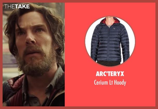 Arc'teryx blue hoody from Doctor Strange seen with Benedict Cumberbatch (Dr. Stephen Strange)