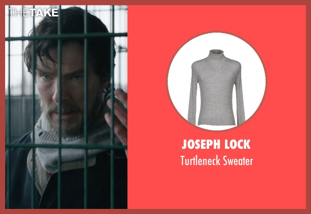 Joseph Lock gray sweater from Doctor Strange seen with Benedict Cumberbatch (Dr. Stephen Strange)