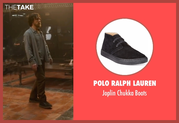 Polo Ralph Lauren black boots from Doctor Strange seen with Benedict Cumberbatch (Dr. Stephen Strange)
