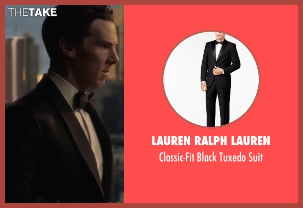 Lauren Ralph Lauren black suit from Doctor Strange seen with Benedict Cumberbatch (Dr. Stephen Strange)