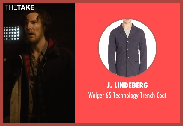 J. Lindeberg blue coat from Doctor Strange seen with Benedict Cumberbatch (Dr. Stephen Strange)