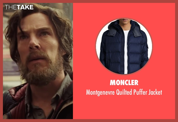 Moncler blue jacket from Doctor Strange seen with Benedict Cumberbatch (Dr. Stephen Strange)