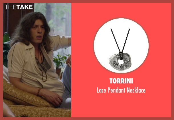 Torrini black necklace from The Walk seen with Benedict Samuel (Jean-Louis)