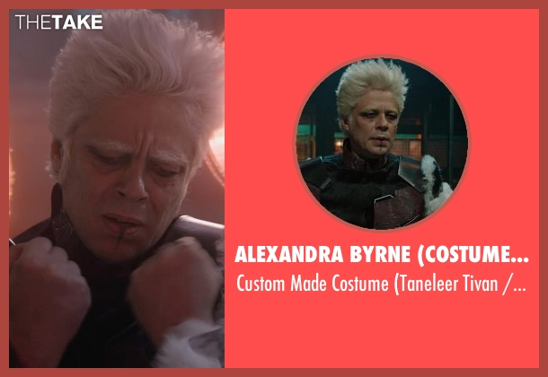 Alexandra Byrne (Costume Designer) costume from Guardians of the Galaxy seen with Benicio Del Toro (Taneleer Tivan / The Collector)