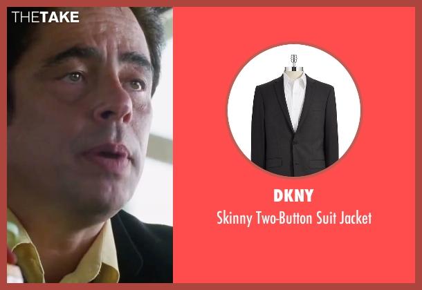 DKNY black jacket from Inherent Vice seen with Benicio Del Toro (Sauncho Smilax)