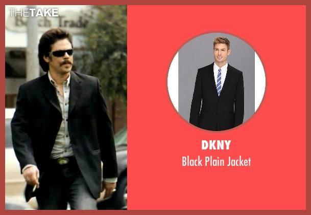 DKNY black jacket from Savages seen with Benicio Del Toro (Lado)
