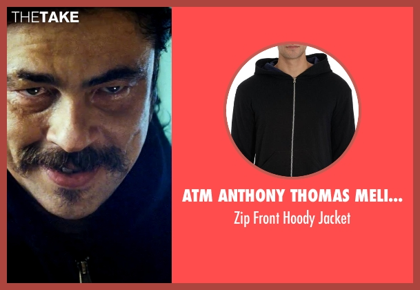 ATM Anthony Thomas Melillo black jacket from Savages seen with Benicio Del Toro (Lado)