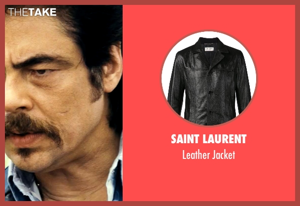 Saint Laurent black jacket from Savages seen with Benicio Del Toro (Lado)