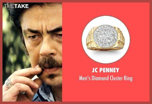 JC Penney gold ring from Savages seen with Benicio Del Toro (Lado)