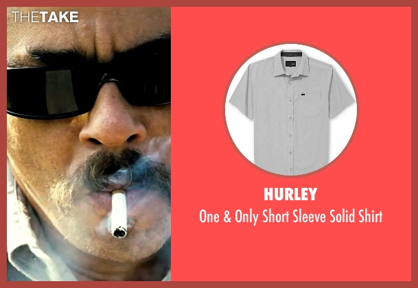 Hurley gray shirt from Savages seen with Benicio Del Toro (Lado)
