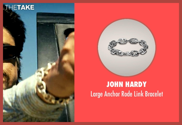 John Hardy silver bracelet from Savages seen with Benicio Del Toro (Lado)