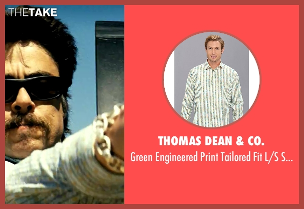 Thomas Dean & Co. white shirt from Savages seen with Benicio Del Toro (Lado)