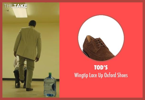 Tod's brown shoes from Sicario seen with Benicio Del Toro (Alejandro)