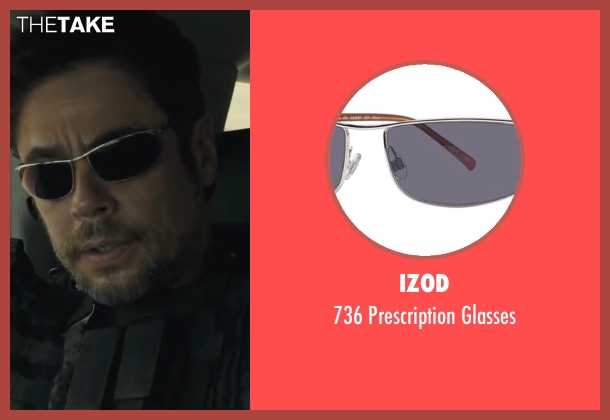 IZOD glasses from Sicario seen with Benicio Del Toro (Alejandro)