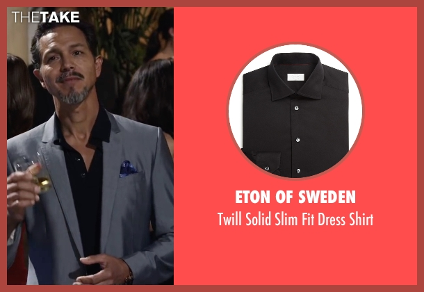 Eton Of Sweden black shirt from Ride Along 2 seen with Benjamin Bratt (Pope)