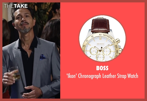 Boss brown watch from Ride Along 2 seen with Benjamin Bratt (Pope)
