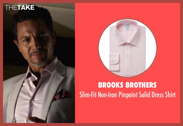 Brooks Brothers pink shirt from Ride Along 2 seen with Benjamin Bratt (Pope)