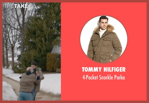 Tommy Hilfiger brown parka from The Visit seen with Benjamin Kanes (Dad)