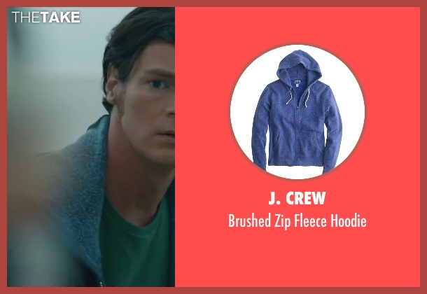 J. Crew blue hoodie from The Choice seen with Benjamin Walker (Travis Parker)