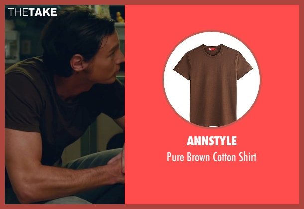 Annstyle brown shirt from The Choice seen with Benjamin Walker (Travis Parker)