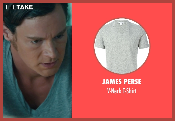 James Perse gray t-shirt from The Choice seen with Benjamin Walker (Travis Parker)