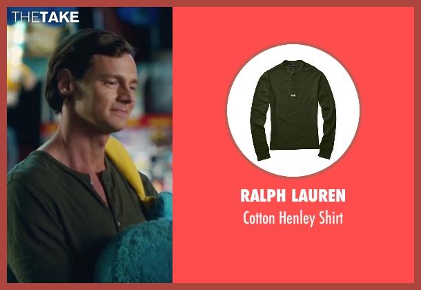 Ralph Lauren green shirt from The Choice seen with Benjamin Walker (Travis Parker)