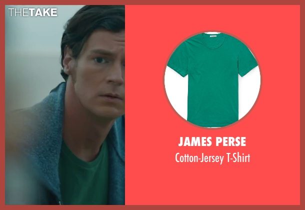 James Perse green t-shirt from The Choice seen with Benjamin Walker (Travis Parker)