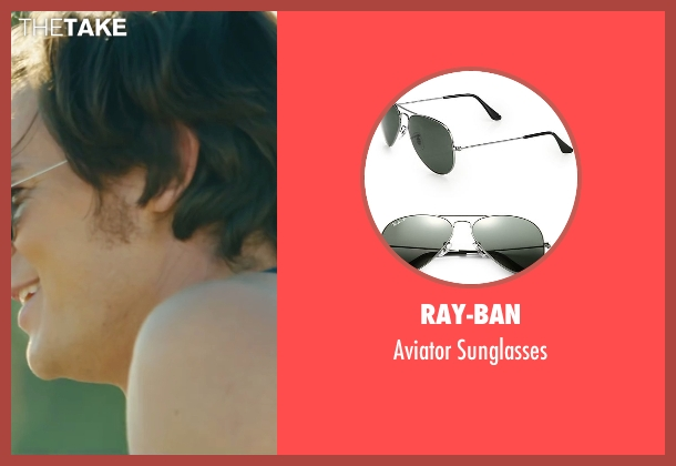 Ray-Ban silver sunglasses from The Choice seen with Benjamin Walker (Travis Parker)