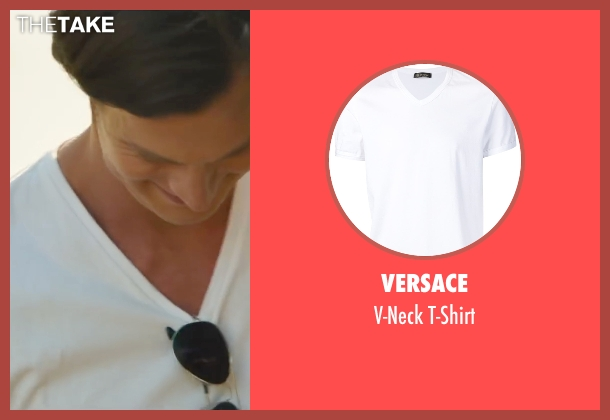 Versace white t-shirt from The Choice seen with Benjamin Walker (Travis Parker)