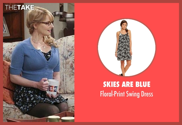 Skies Are Blue black dress from The Big Bang Theory seen with Bernadette Rostenkowski (Melissa Rauch)
