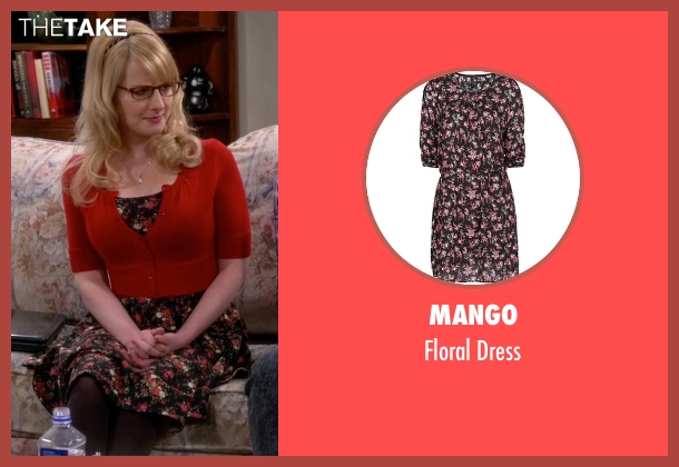 Mango black dress from The Big Bang Theory seen with Bernadette Rostenkowski (Melissa Rauch)