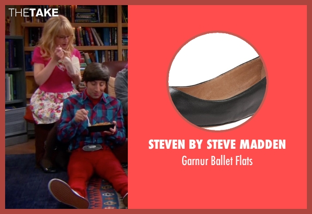 Steven By Steve Madden black flats from The Big Bang Theory seen with Bernadette Rostenkowski (Melissa Rauch)
