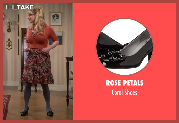 Rose Petals black shoes from The Big Bang Theory seen with Bernadette Rostenkowski (Melissa Rauch)