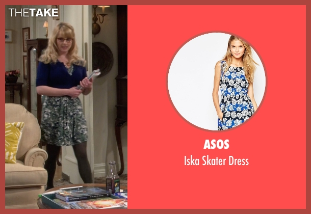 Asos blue dress from The Big Bang Theory seen with Bernadette Rostenkowski (Melissa Rauch)