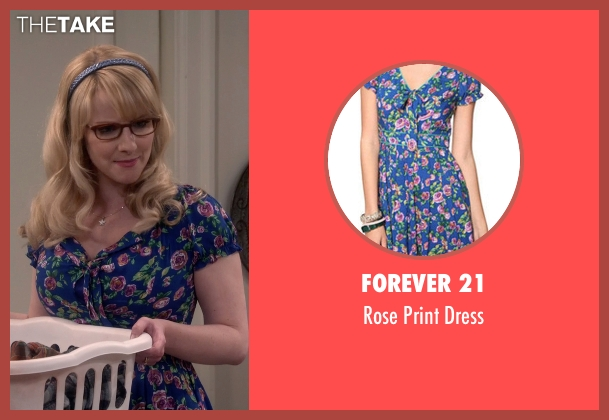 Forever 21 blue dress from The Big Bang Theory seen with Bernadette Rostenkowski (Melissa Rauch)