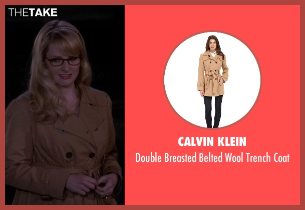 Calvin Klein brown coat from The Big Bang Theory seen with Bernadette Rostenkowski (Melissa Rauch)