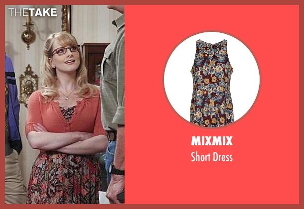 Mixmix brown dress from The Big Bang Theory seen with Bernadette Rostenkowski (Melissa Rauch)