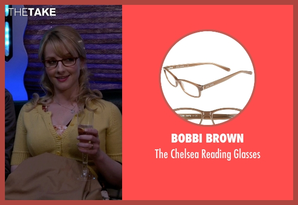 Bobbi Brown brown glasses from The Big Bang Theory seen with Bernadette Rostenkowski (Melissa Rauch)