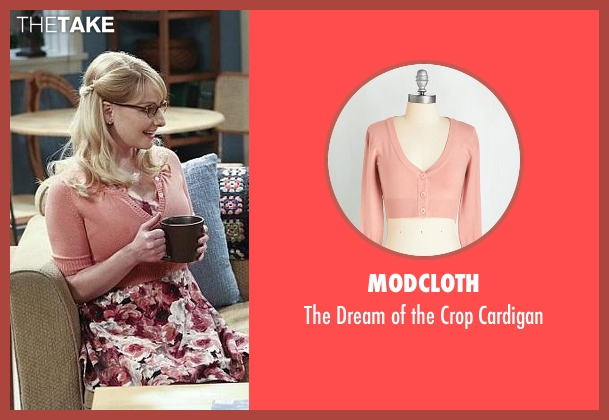ModCloth pink cardigan from The Big Bang Theory seen with Bernadette Rostenkowski (Melissa Rauch)