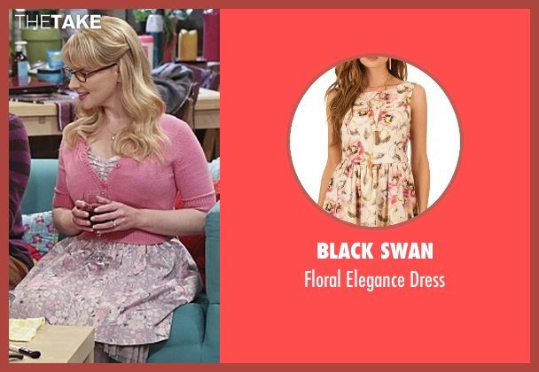 Black Swan pink dress from The Big Bang Theory seen with Bernadette Rostenkowski (Melissa Rauch)