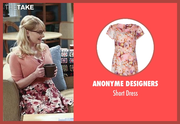 Anonyme Designers pink dress from The Big Bang Theory seen with Bernadette Rostenkowski (Melissa Rauch)