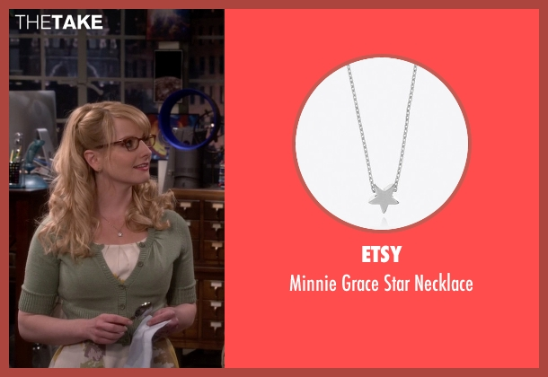 Etsy silver necklace from The Big Bang Theory seen with Bernadette Rostenkowski (Melissa Rauch)