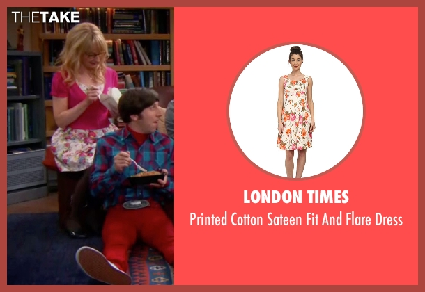 London Times white dress from The Big Bang Theory seen with Bernadette Rostenkowski (Melissa Rauch)