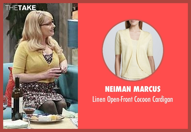 Neiman Marcus yellow cardigan from The Big Bang Theory seen with Bernadette Rostenkowski (Melissa Rauch)