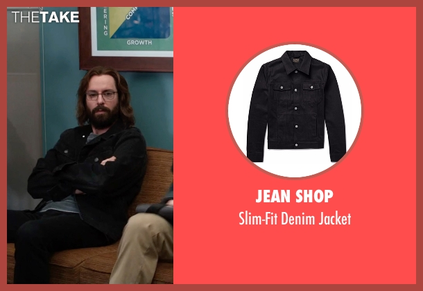 Jean Shop black jacket from Silicon Valley seen with Bertram Gilfoyle (Martin Starr)