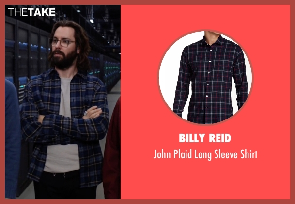 Billy Reid blue shirt from Silicon Valley seen with Bertram Gilfoyle (Martin Starr)